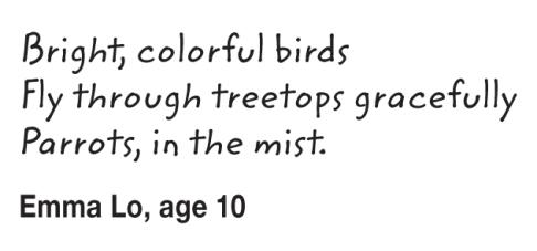Kids Writing Parrots_Emma