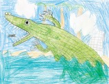 Kids Art Alligators_Charlie