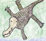 Kids Art Alligators_Lauren