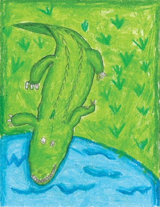 Kids Art Alligators_Leslie