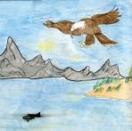 Kids Art_Birds of Prey_Cameron